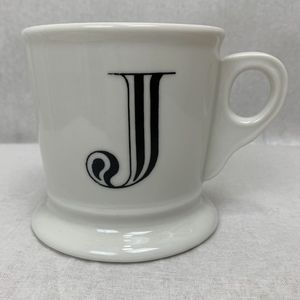 Anthropologie Monogram Letter J Mug Cup